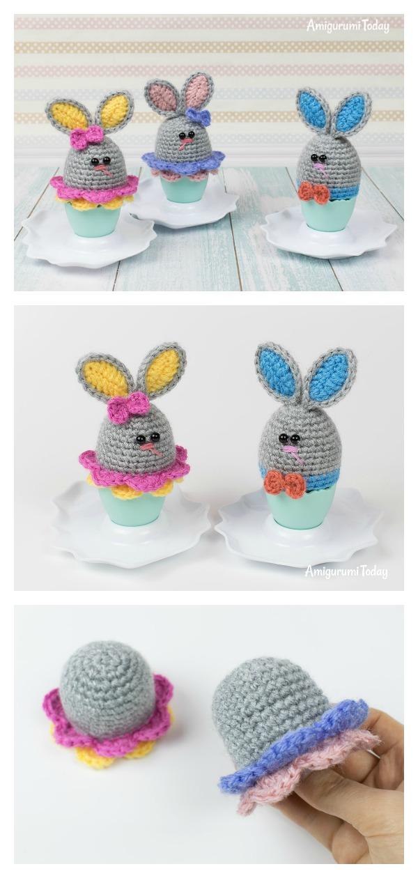 Easter Bunny Egg Cozy Free Crochet Pattern