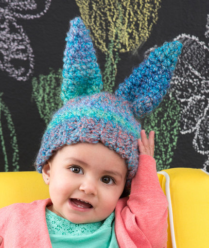 Fluffy Bunny Hat Free Crochet Pattern