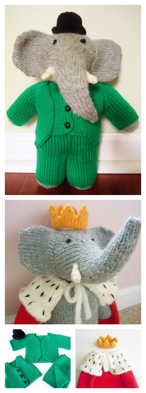 Dog Sweater Patterns Knitting : Knitting Elephant Toy Free Patterns