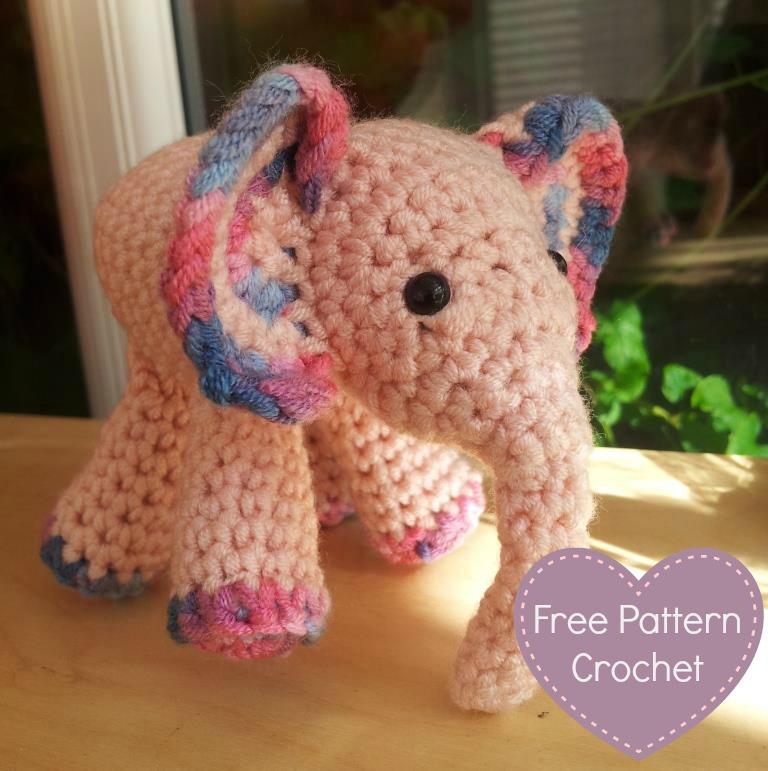 Free Baby Elephant Crochet Pattern