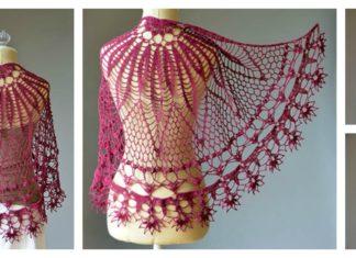 Corona Shawl Free Crochet Pattern