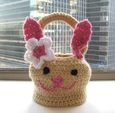 Free Easter Bunny Basket Crochet Pattern