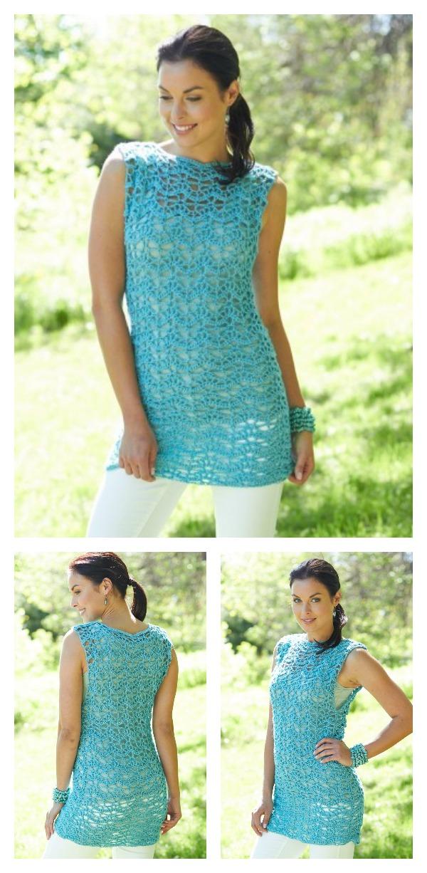 Free Intermediate Women's Tank Top Crochet Pattern and Video Tutorial