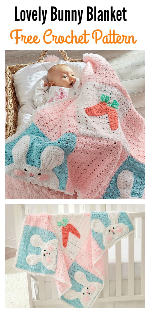 Free Lovely Bunny Blanket Crochet Pattern
