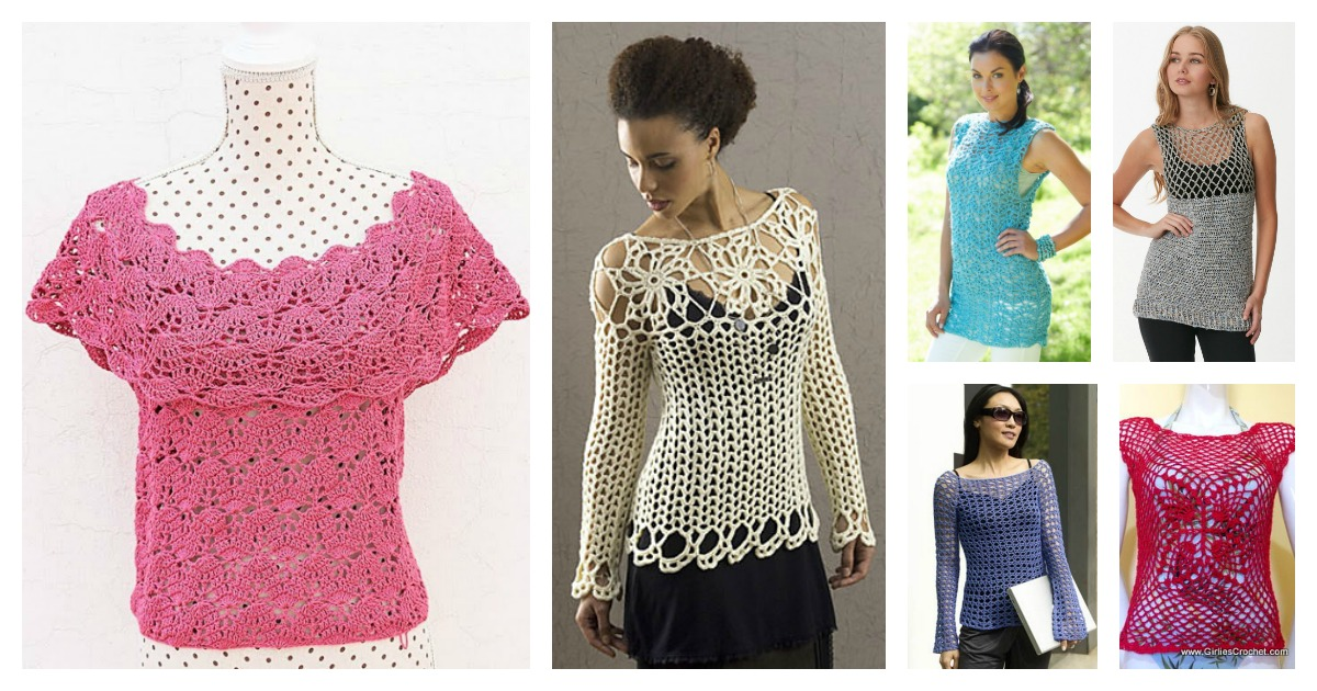 Gorgeous Summer Crochet Top Free Patterns