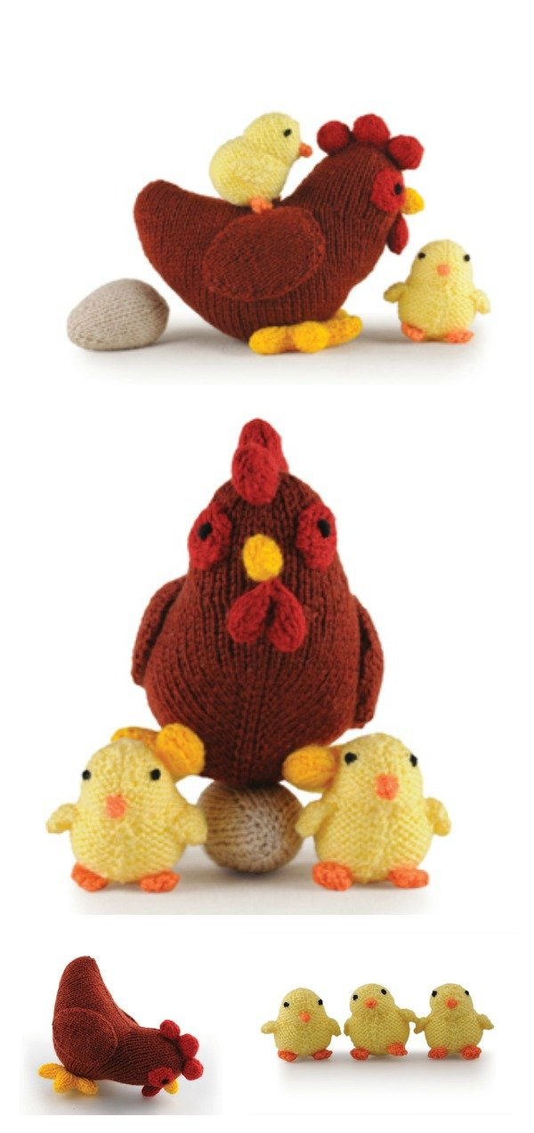 Hen Chicks and Eggs Free Knitting Pattern