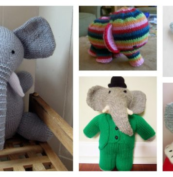 Knitting Elephant Toy Free Patterns