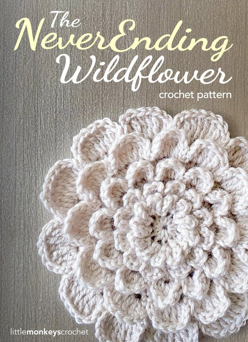 Never ending wildflower crochet free patterns and projects crochet wildflower free pattern bankloansurffo Choice Image