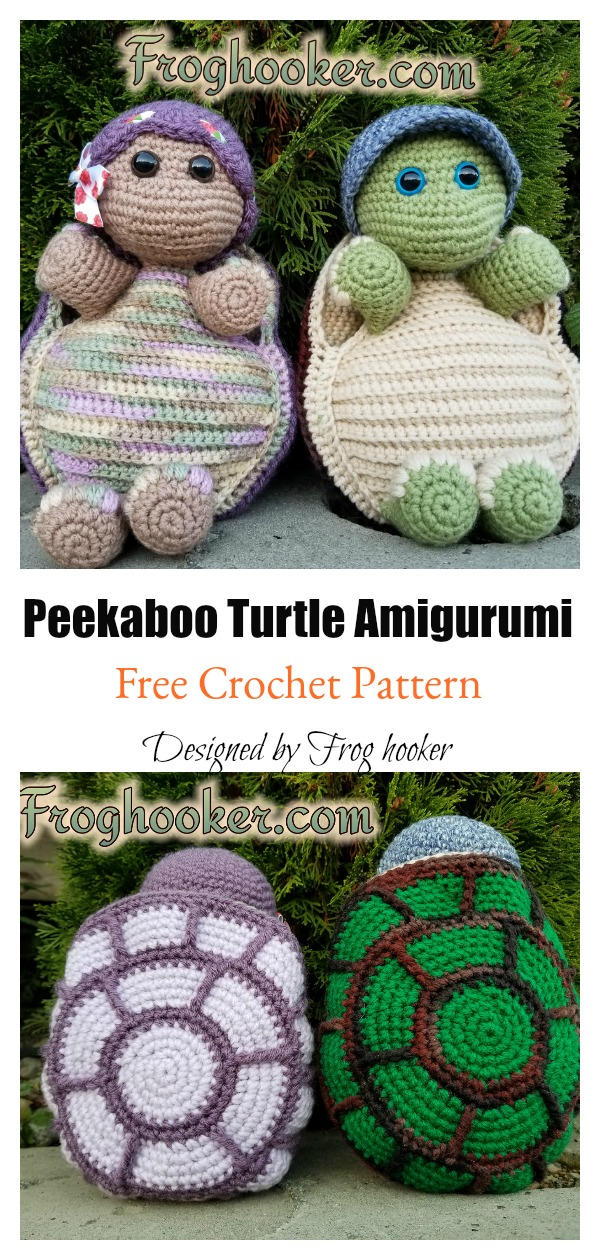 Peekaboo Turtle Amigurumi Free Crochet Pattern