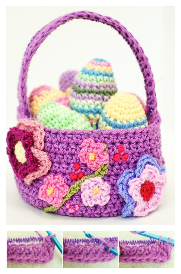Spring Easter Basket FREE Crochet Pattern