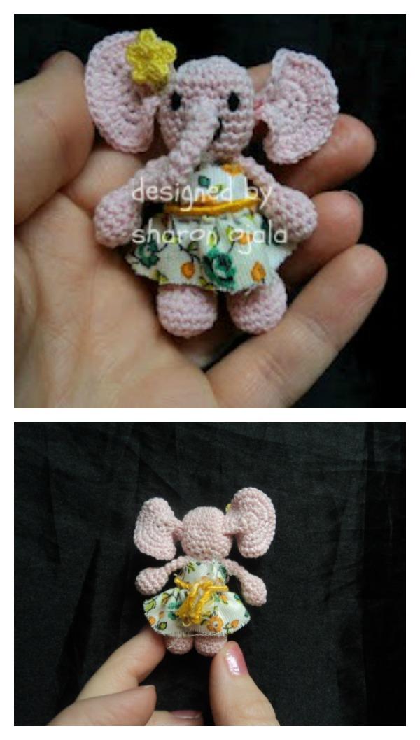 Tiny Elephant Free Crochet Pattern