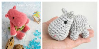 10 Cute Hippo Amigurumi Crochet Patterns Free and Paid
