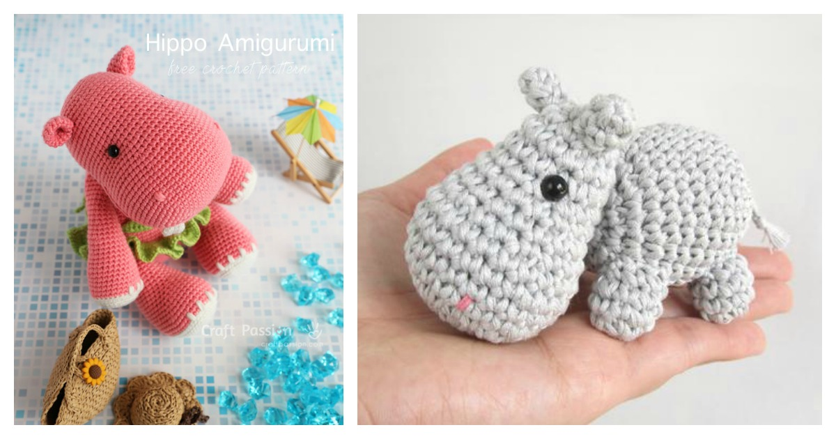 Beautiful Skills - Crochet Knitting Quilting : Cuddle Me Hippo ... | 630x1200