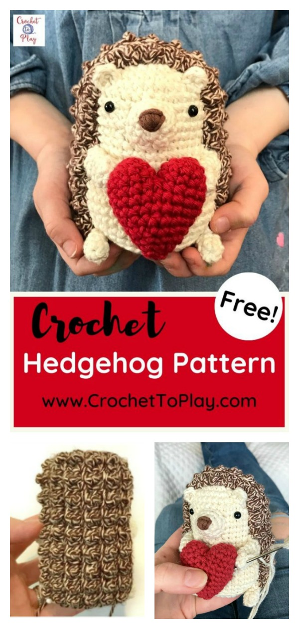 Amigurumi Hedgehog with Heart Free Crochet Pattern