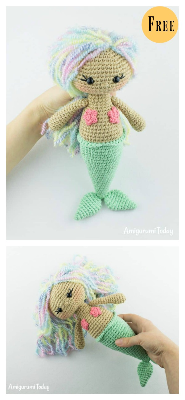6 crochet amigurumi mermaid doll patterns amigurumi mermaid doll free crochet pattern dt1010fo