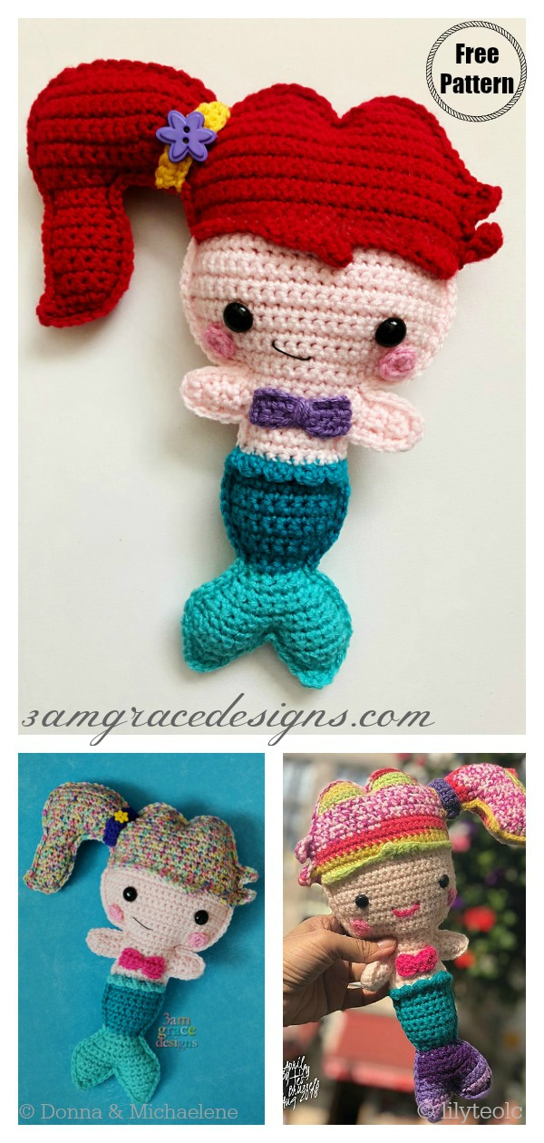 Ragdoll Mermaid Crochet Free Pattern - Crochet & Knitting | 1260x600
