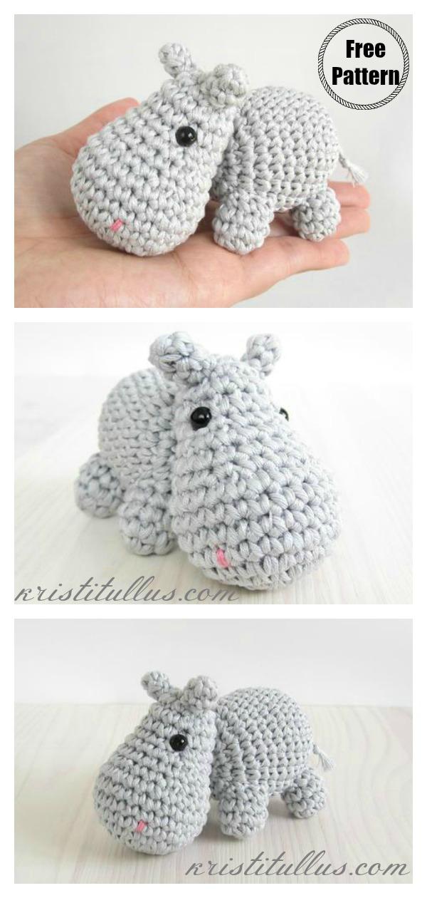 FREE PATTERN: Small Hippo – Kristi Tullus | 1260x600
