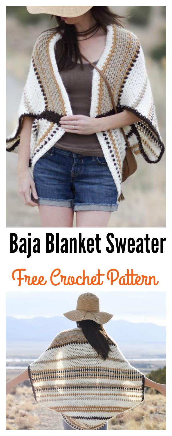 Light Frost Easy Blanket Sweater Crochet Pattern 38e0bdc86