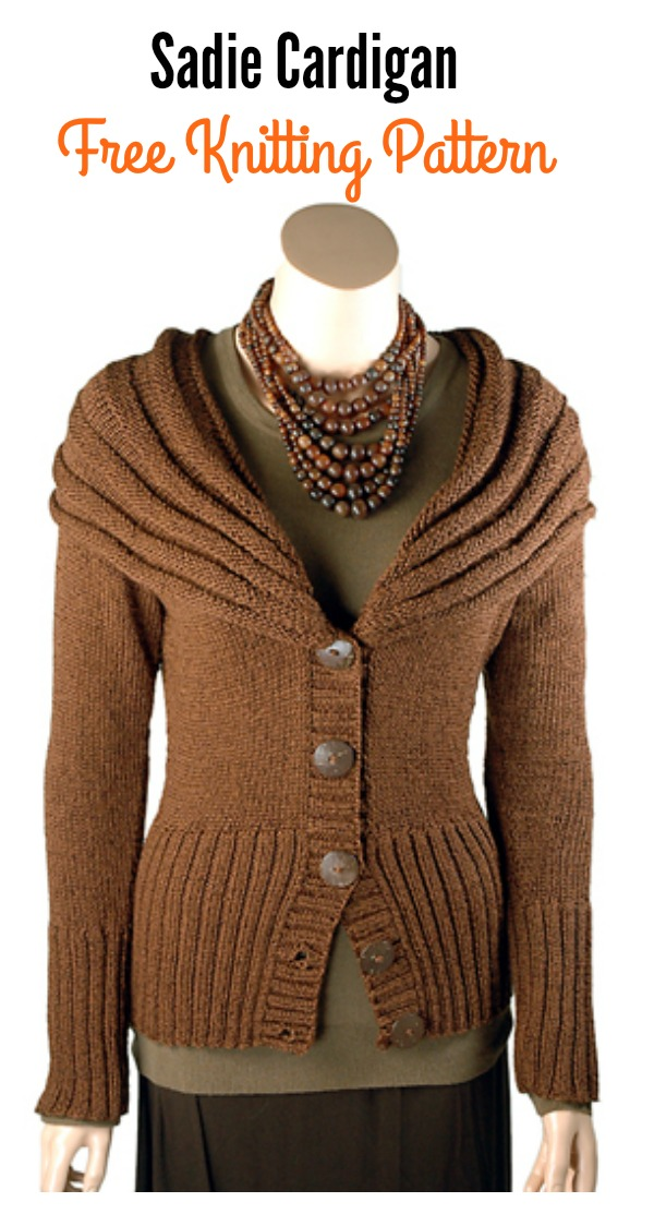 Sadie Jacket Cardigan Free Knitting Pattern