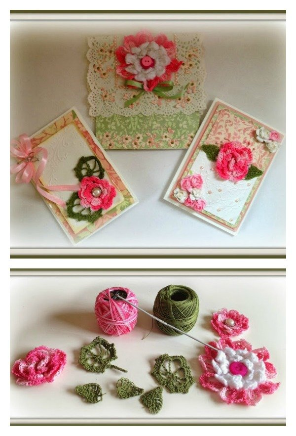 Cards with Crochet