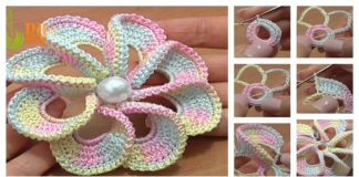 3D Spiral 8-Petal Crochet Flower Trim Around Video Tutorial