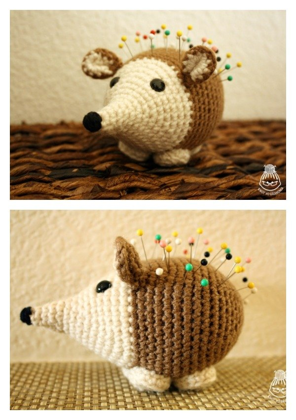 Crochet Amigurumi Hedgehog Pincushion Free Pattern