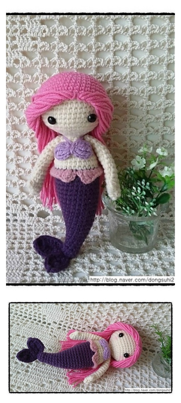6 crochet amigurumi mermaid doll patterns crochet amigurumi mermaid doll free pattern dt1010fo