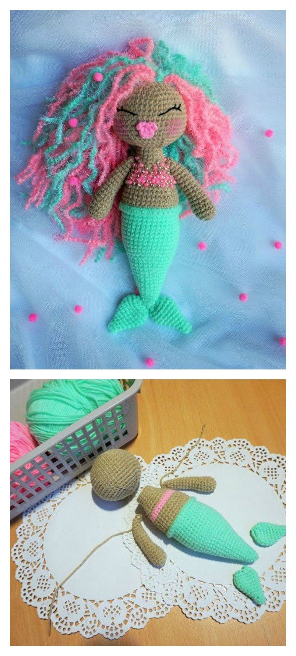 Crochet Amigurumi Mermaid Doll Free Pattern