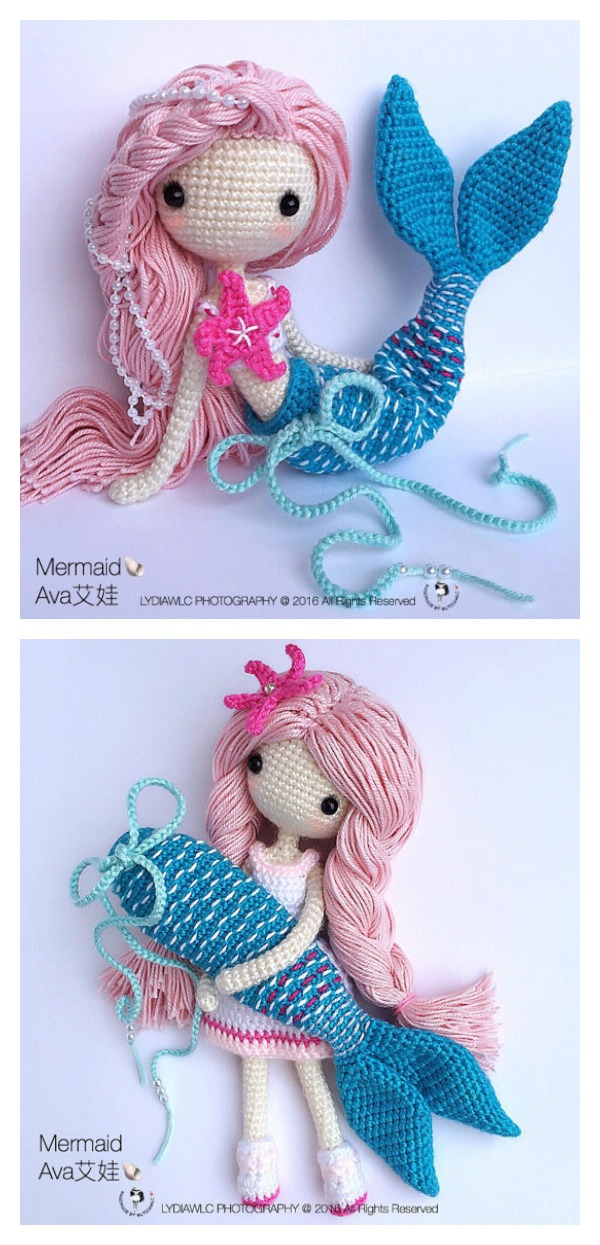 Crochet Doll Pattern Easy : 6 Crochet Amigurumi Mermaid Doll Patterns