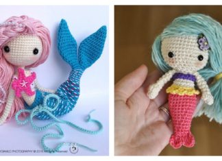 Crochet Amigurumi Mermaid Doll Patterns