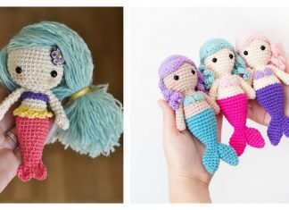 10 Crochet Amigurumi Mermaid Doll Patterns Free and Paid