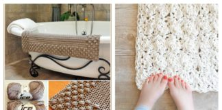 Crochet Bath Mat Free Patterns