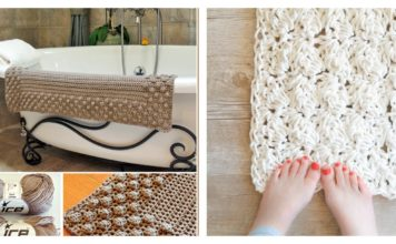 Crochet Bath Mat Free Patterns