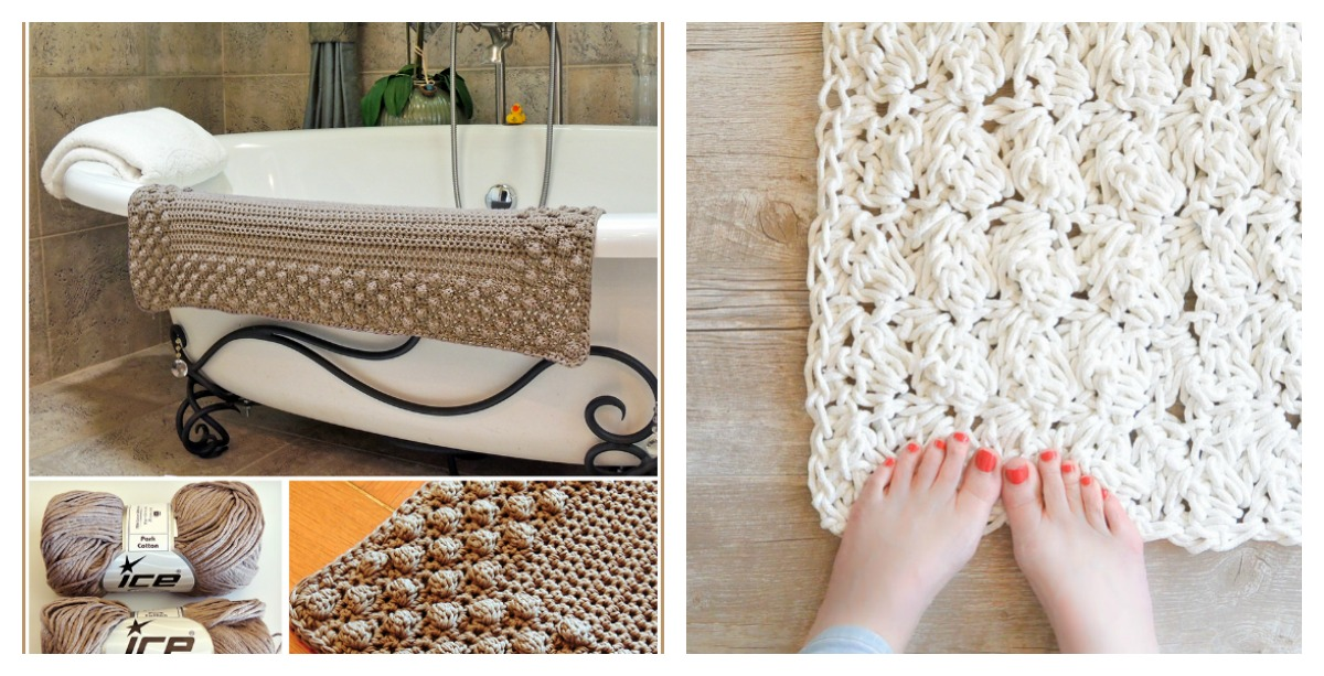 Crochet Bath Mat Free Patterns Cool Creativities