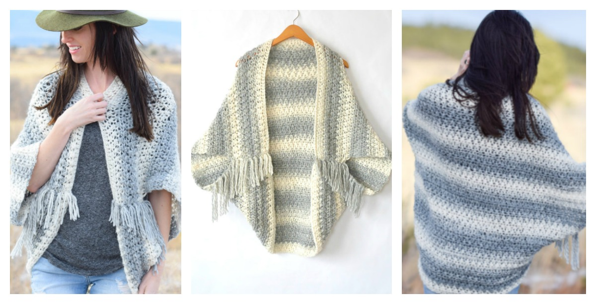 Crochet Blanket Sweater Shrug Free Pattern b37339be4
