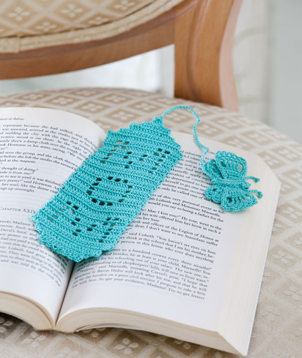 Crochet Bookmark with Butterfly for Mom Free Pattern