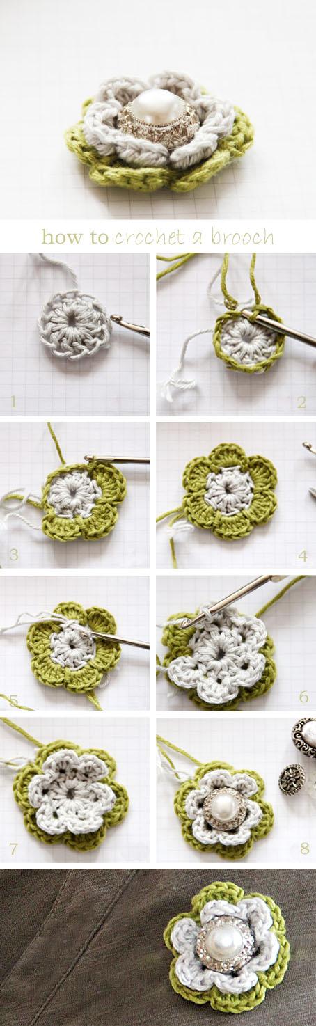 Crochet Flower Brooch For Mom Free Pattern Cool Creativities