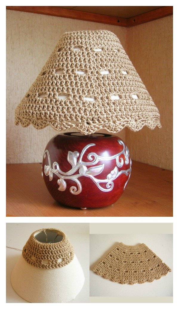 Crochet Lampshade Cozy Free Pattern