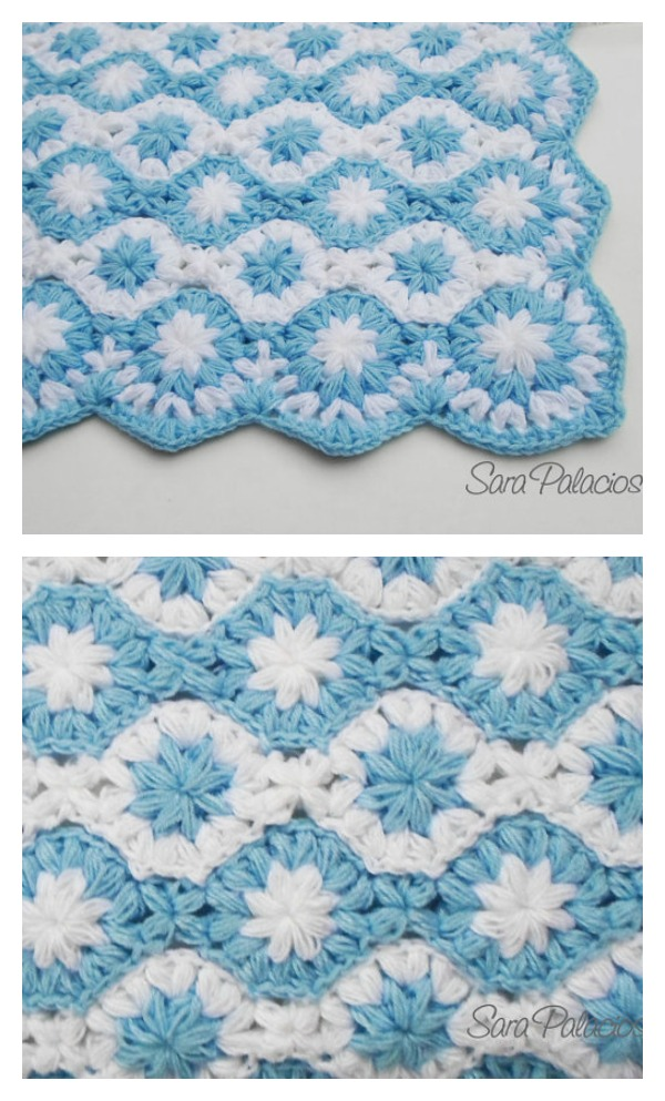 Free Pattern For Baby Puff Quilt : Crochet Puff Flower Blanket Pattern and Free Chart