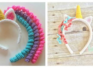 Crochet Unicorn Headband Free Pattern and Paid