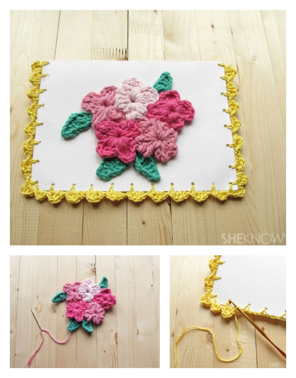 Crochet a Mother's Day Card Free Pattern