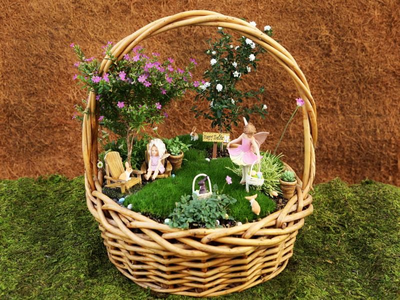 DIY Basket Fairy Garden