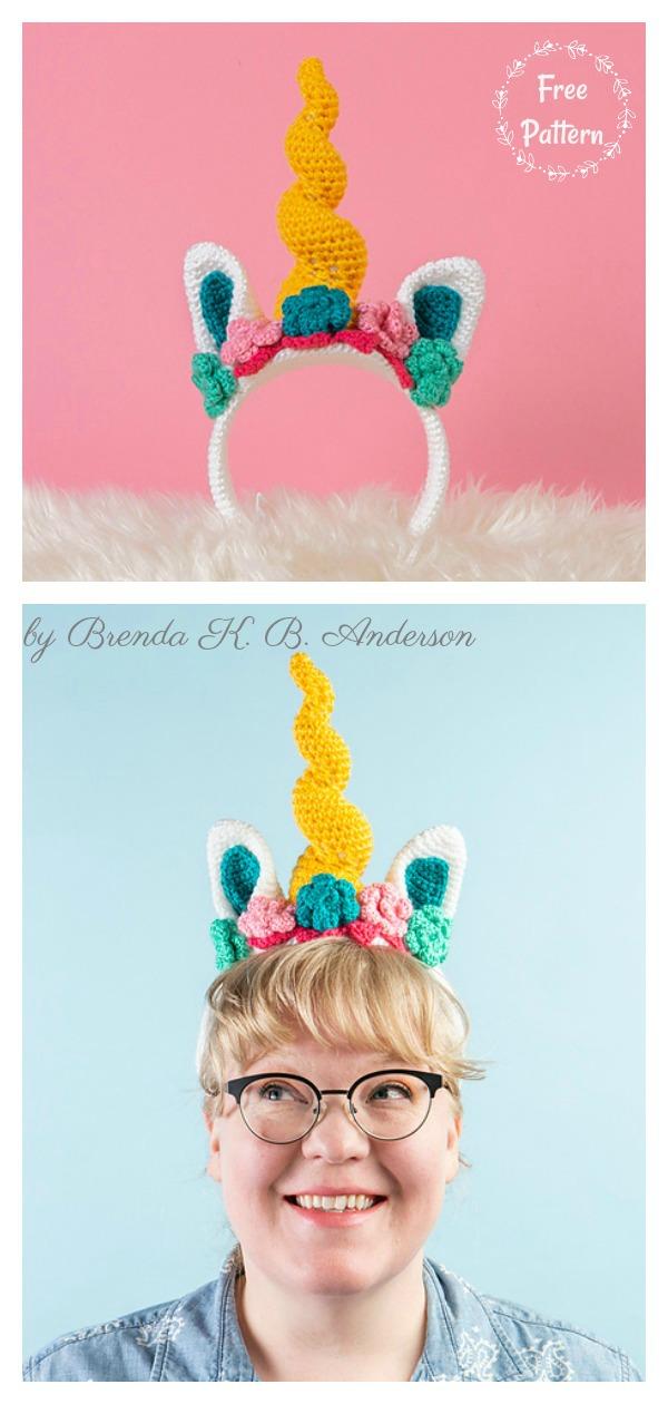 Dazzler the Unicorn Headband Free Crochet Pattern