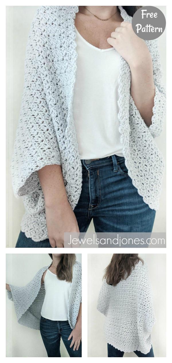 Easy The Blanket Shrug Free Crochet Pattern