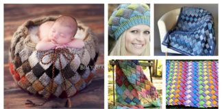 Entrelac Pouch Free Knitting Patterns and Projects