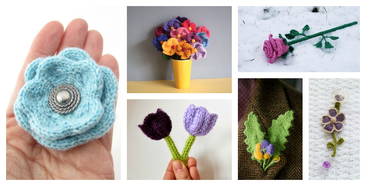 Free Flower Knitting Patterns Cool Creativities