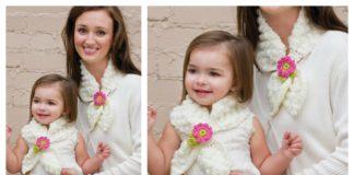 Free Lotus Scarf Crochet Pattern