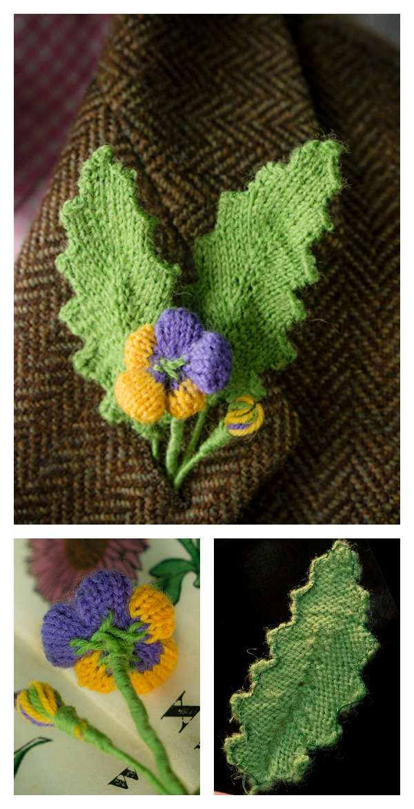 Knitted Flower And Leaf Free Pattern Cool Creativities