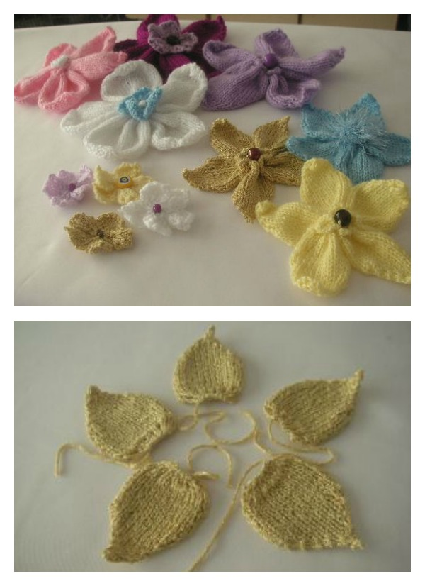 Knitted Flowers Free Pattern - Cool Creativities