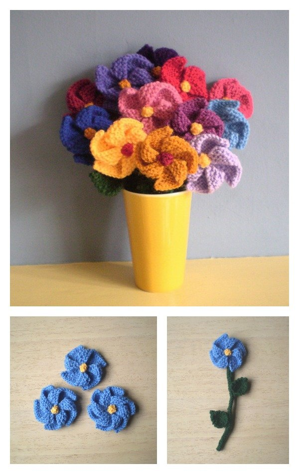 Flower Knitting Patterns Free : Free Flower Knitting Patterns